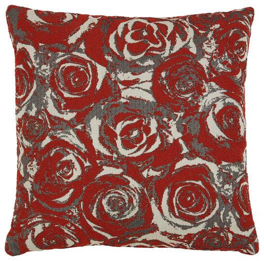 ZIERKISSEN 35/35 cm - Rot, Design, Textil (35/35cm)
