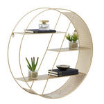 WANDREGAL 60/60/15 cm  - Goldfarben, Design, Metall (60/60/15cm) - Carryhome