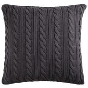 KISSENHÜLLE Anthrazit 50/50 Cm   Anthrazit, LIFESTYLE, Textil (50/50cm