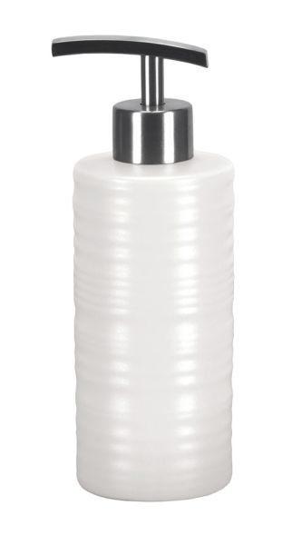 DOZATOR TEKUĆEG SAPUNA - bijela, Konvencionalno, keramika (6/13cm) - Kleine Wolke