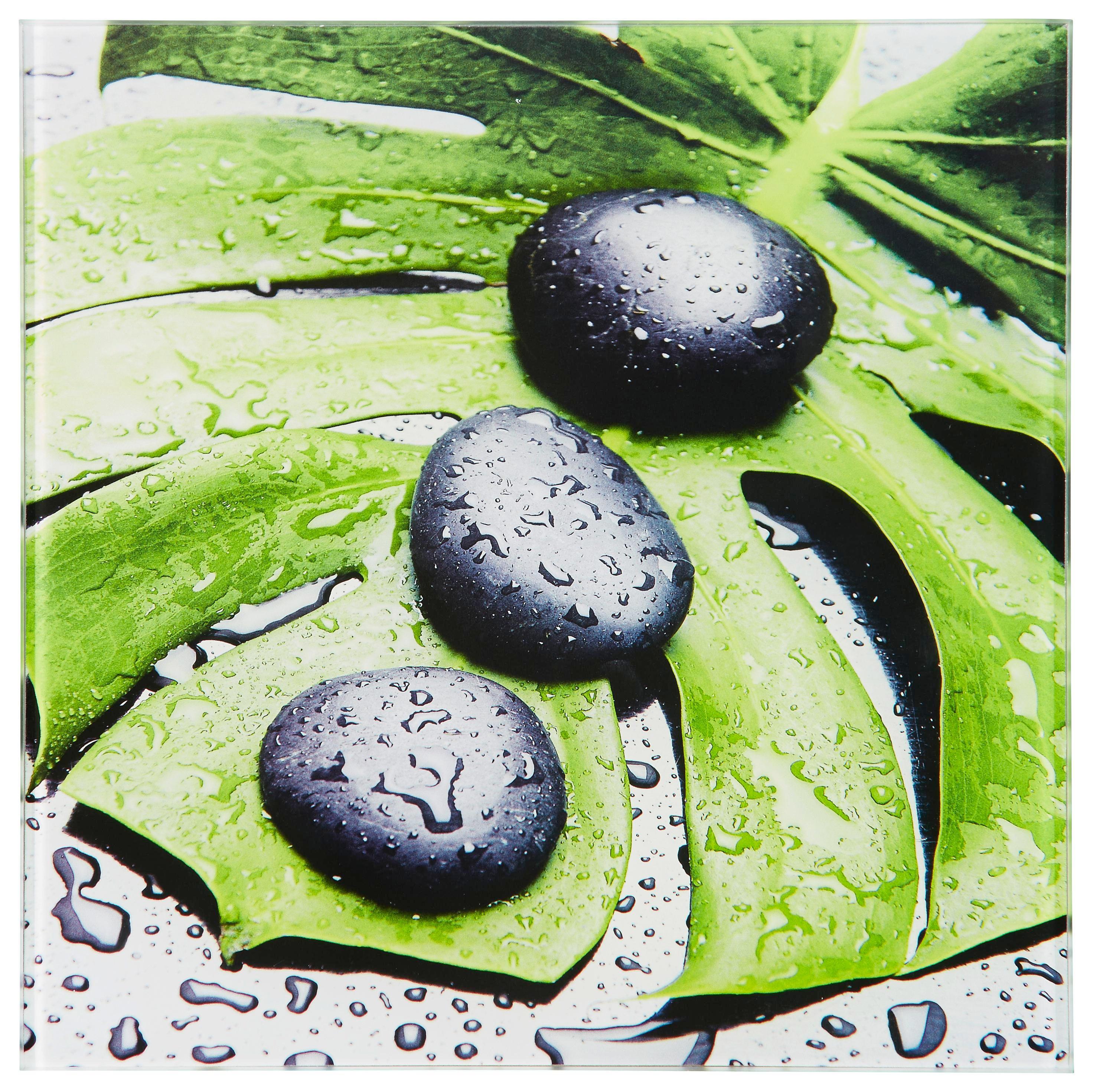 Steine, Wasser, Zen Glasbild