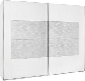 SKJUTDÖRRSGARDEROB - vit/kromfärg, Design, metall/glas (270/223/69cm) - Xora