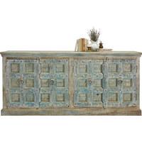 KOMODA SIDEBOARD - krémová/přírodní barvy, Trend, kov/dřevo (200-220/90-100/45cm) - Ambia Home