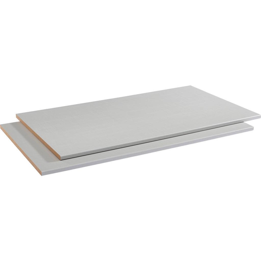 Hom`in Einlegebodenset 2-teilig für 100er elemente silberfarben