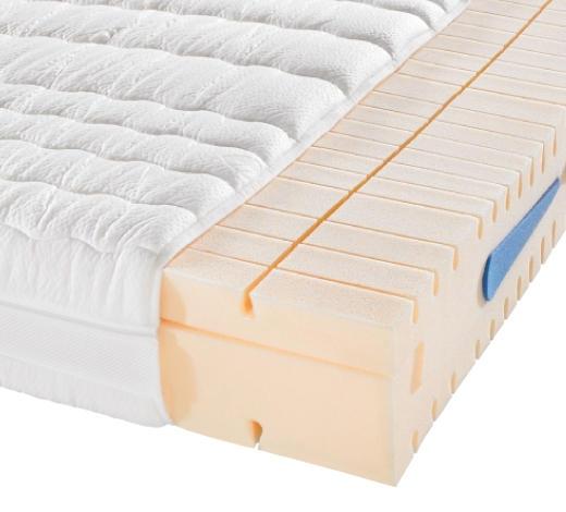 KALTSCHAUMMATRATZE 90/200 cm  - Creme, Basics, Textil (90/200cm) - Novel