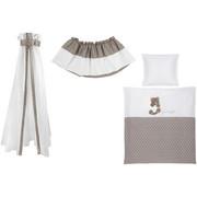 SET ZA POSTELJICO NA KOLESIH - sivo rjava/bela, Basics, tekstil - My Baby Lou