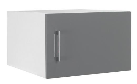 AUFSATZSCHRANK 50/32/57 cm Grau, Weiß - Chromfarben/Weiß, Design, Metall (50/32/57cm) - Welnova