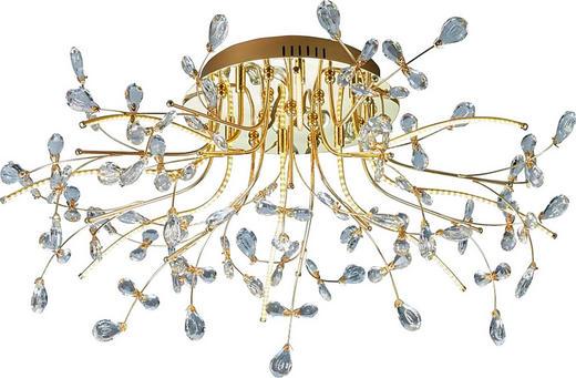 LED-DECKENLEUCHTE - Messingfarben, Design, Glas/Metall (77cm)