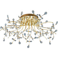 LED-DECKENLEUCHTE - Messingfarben, LIFESTYLE, Glas/Metall (77cm)
