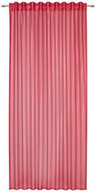 FERTIGVORHANG  transparent  140/245 cm - Rot, Trend, Textil (140/245cm) - Esposa