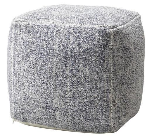 HOCKER Webstoff Blau  - Blau, Trend, Textil (45/45/45cm) - Carryhome