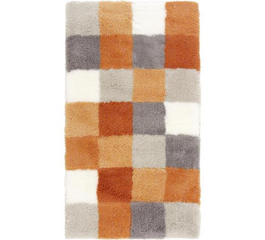 BADTEPPICH in Grau, Orange, Weiß 70/120 cm - Orange/Weiß, KONVENTIONELL, Kunststoff/Textil (70/120cm) - Kleine Wolke