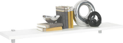 WANDBOARD in Weiß - Weiß, Design, Holzwerkstoff (125/2,8/25cm) - Xora