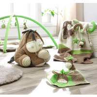 ZVÍŘÁTKO PLYŠOVÉ - krémová/zelená, Basics, textilie (40cm) - My Baby Lou