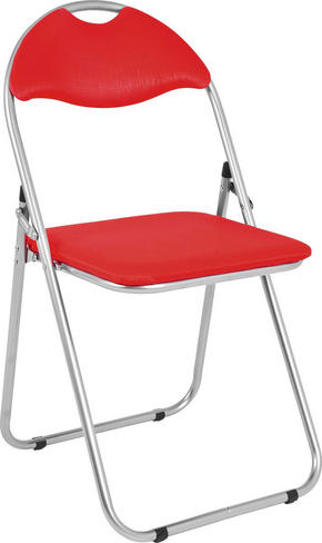 KLAPPSTOL - röd/alufärgad, Design, metall/textil (44/80/47cm) - Low Price