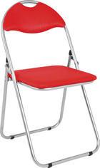 SKLÁDACÍ ŽIDLE - barvy hliníku/červená, Design, kov/textil (44/80/47cm)