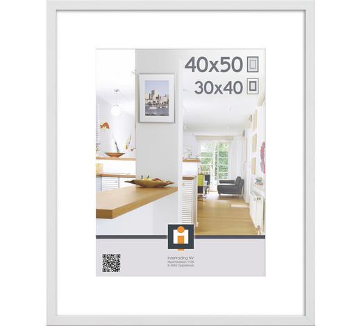 RÁM NA OBRAZY, bílá - bílá, Basics, umělá hmota/sklo (40/50cm)