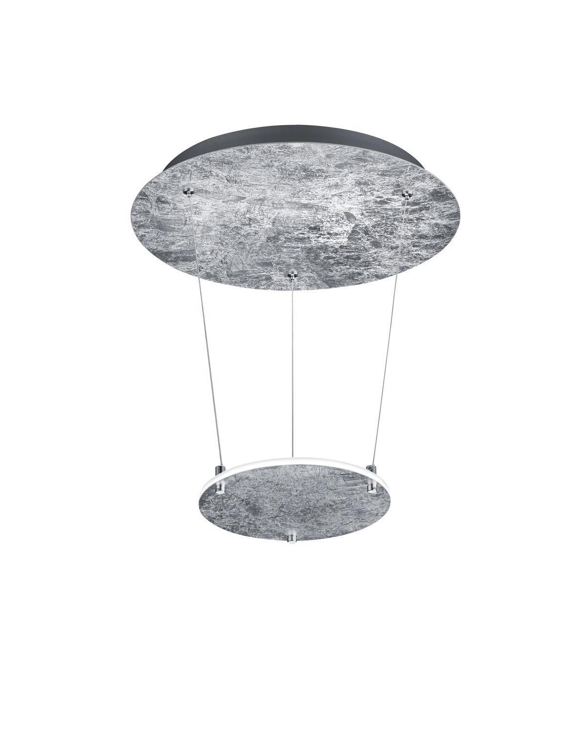 LED-HÄNGELEUCHTE - Silberfarben, Design, Metall (36,0/50,0cm)