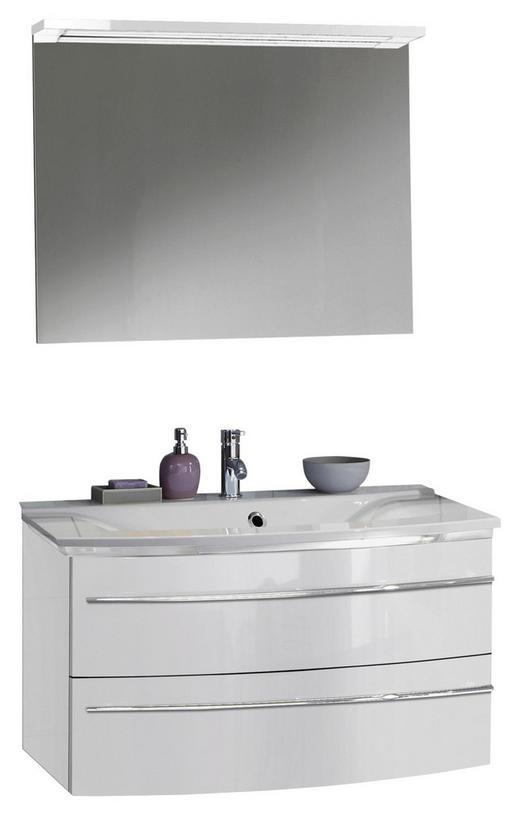BADEZIMMER Weiß - Weiß, Design, Stein (92,4cm) - Welnova