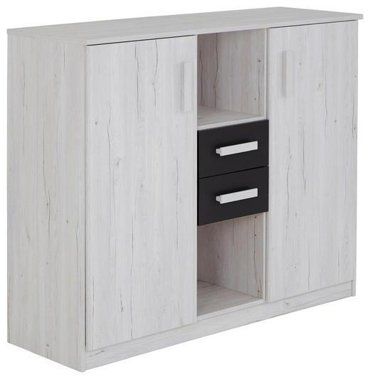 KOMMODE 124/105/41 cm - Graphitfarben/Weiß, Design, Holzwerkstoff/Kunststoff (124/105/41cm) - Carryhome
