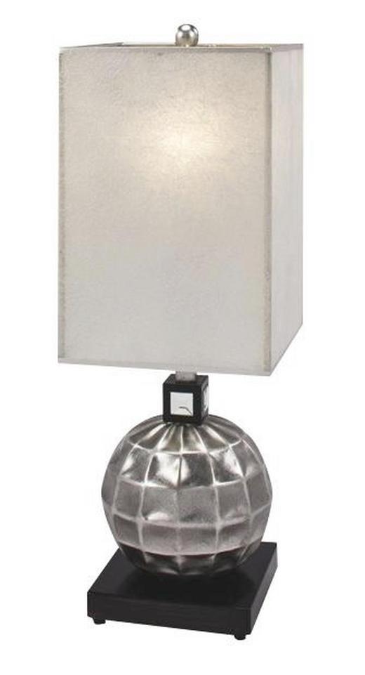 TISCHLEUCHTE - Silberfarben/Perlmutt, LIFESTYLE, Holz/Kunststoff (27/79/27cm)