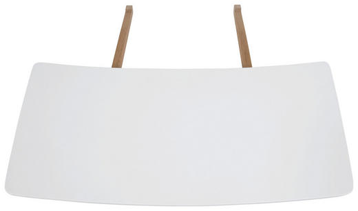ANSTECKPLATTENSET Eiche massiv Eichefarben, Weiß - Eichefarben/Weiß, Design, Holz (90/1,8/50cm) - Carryhome