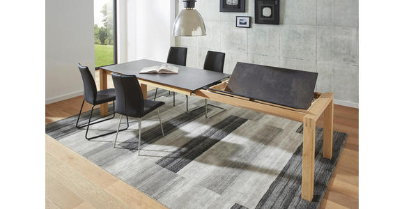 ESSTISCH in Holz, Kunststoff 140(240)/90/75 cm   - Eichefarben/Graphitfarben, Design, Holz/Kunststoff (140(240)/90/75cm) - Dieter Knoll