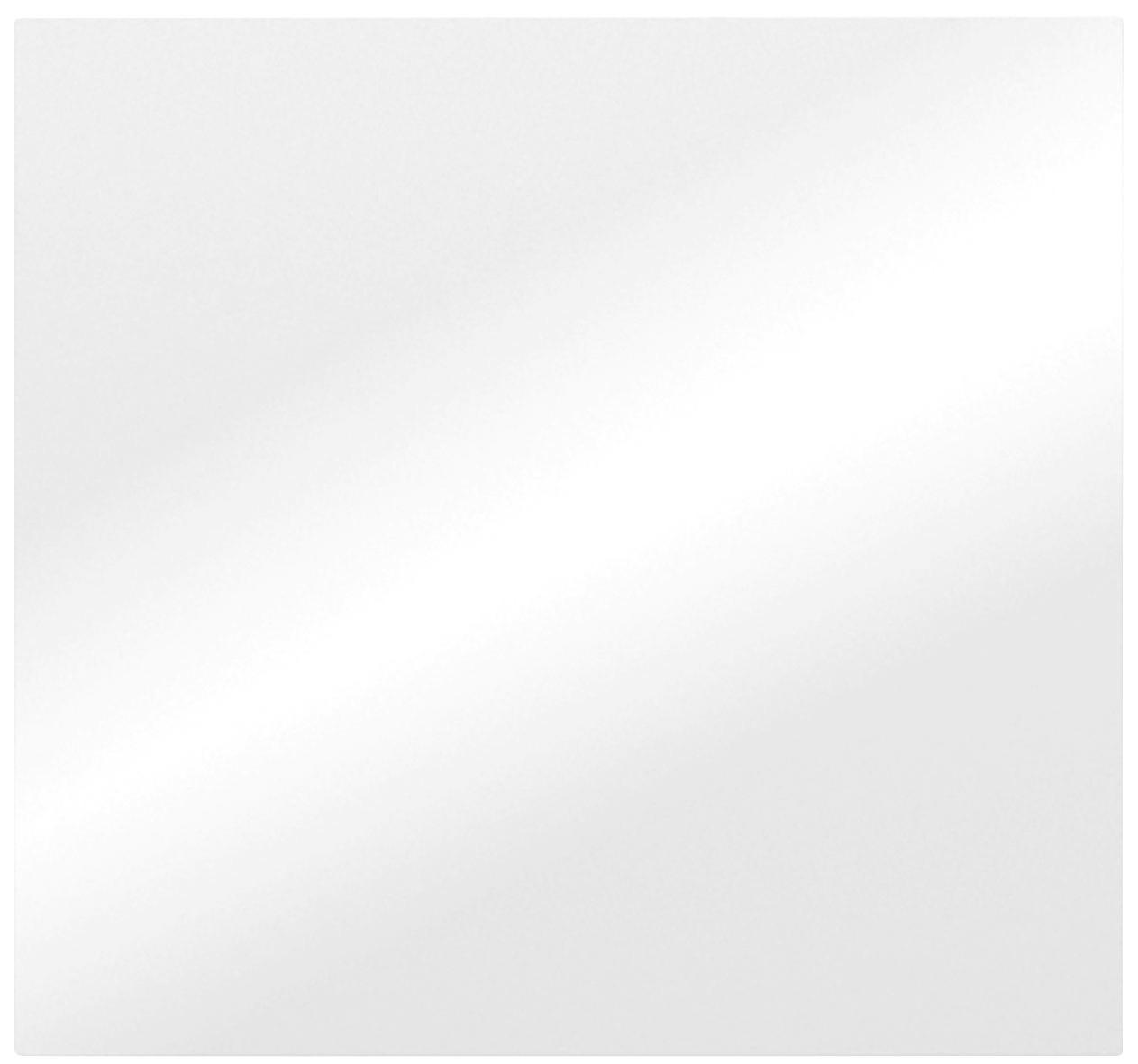 SPIEGEL - Weiß, Design, Glas (64/60/3cm)