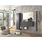 SCHUHSCHRANK Anthrazit, Eichefarben  - Eichefarben/Anthrazit, Design (136/41/22cm) - Moderano