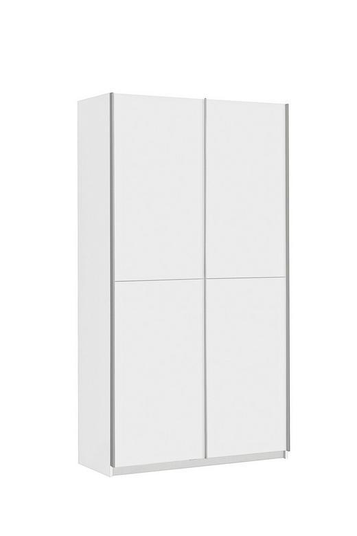 MEHRZWECKSCHRANK Weiß - Alufarben/Weiß, Design, Holzwerkstoff/Metall (120/190,5/42cm) - CARRYHOME