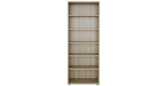 AKTENREGAL 81,8/215,2/40 cm  - Schwarz/Sonoma Eiche, KONVENTIONELL, Holzwerkstoff/Kunststoff (81,8/215,2/40cm) - Voleo