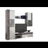 REGAL ZA DNEVNI BORAVAK - bijela/siva, Design, drvni materijal/metal (223/190/38cm) - Ti`me