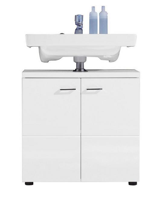 WASCHBECKENUNTERSCHRANK Weiß - Silberfarben/Schwarz, Design, Holzwerkstoff/Kunststoff (65/63/35cm) - Xora