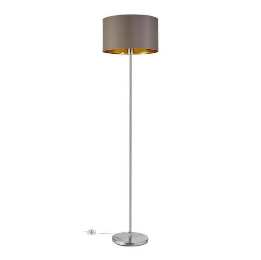 STEHLEUCHTE - Goldfarben, LIFESTYLE, Textil/Metall (38/151cm)