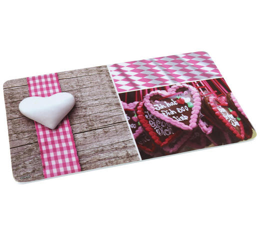 SCHNEIDEBRETT - Rosa, LIFESTYLE, Kunststoff (23,5/14/0,4cm) - Homeware