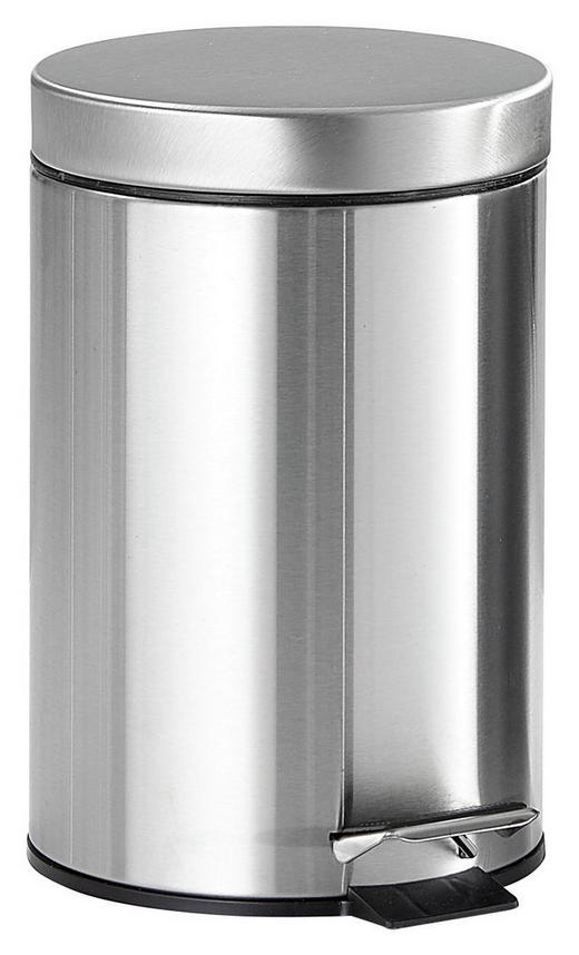 KOSMETIKEIMER - Edelstahlfarben/Schwarz, Basics, Kunststoff/Metall (17/25.5cm)
