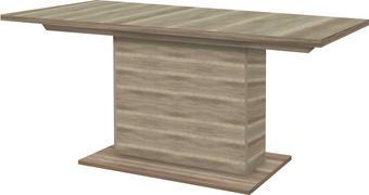 JÍDELNÍ STŮL, dub, barvy dubu - barvy dubu, Konvenční, kov/dřevěný materiál (160(200)/90/77cm)