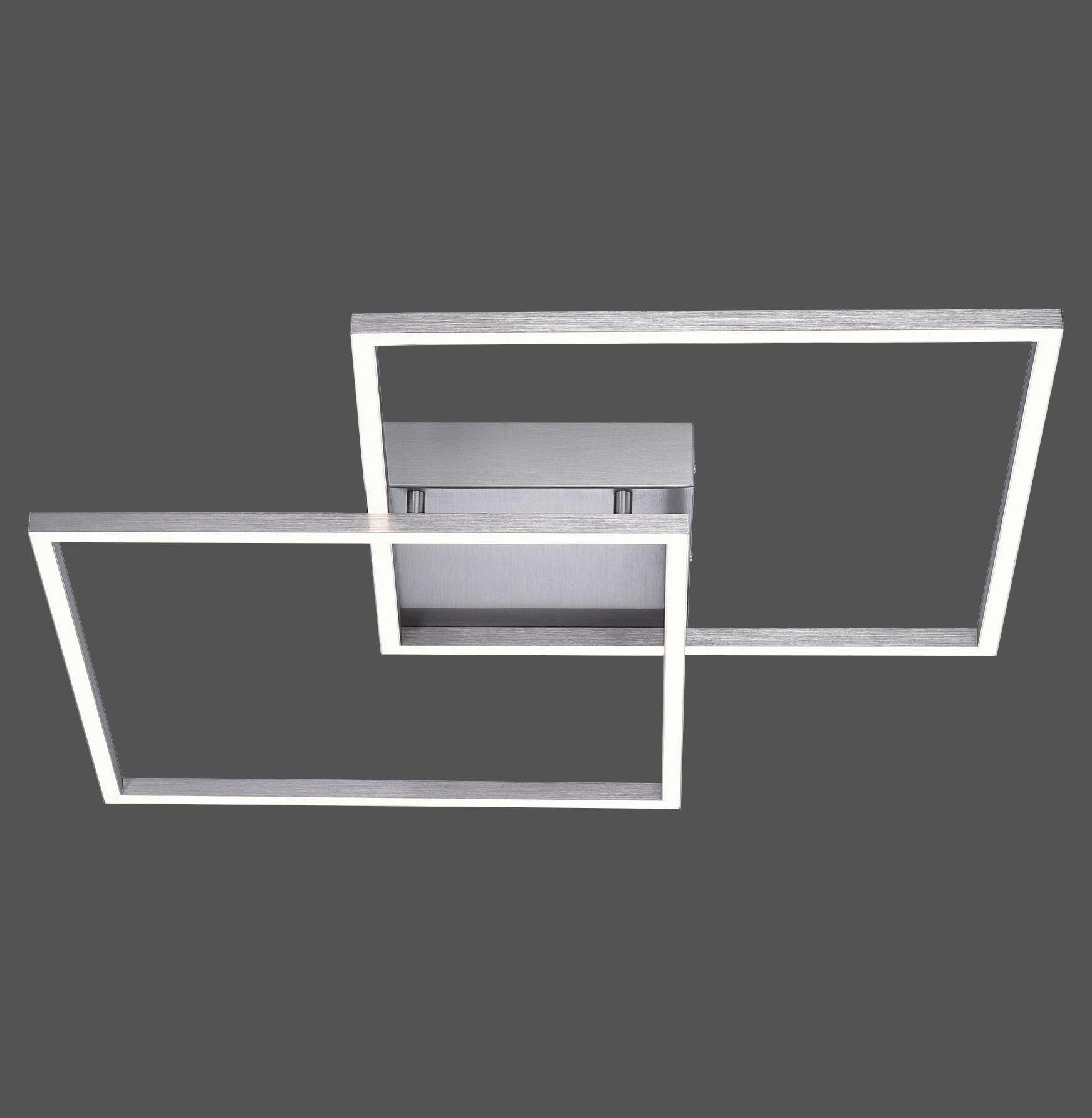 LED-DECKENLEUCHTE - Nickelfarben, Design, Metall (53/53/6,5cm)
