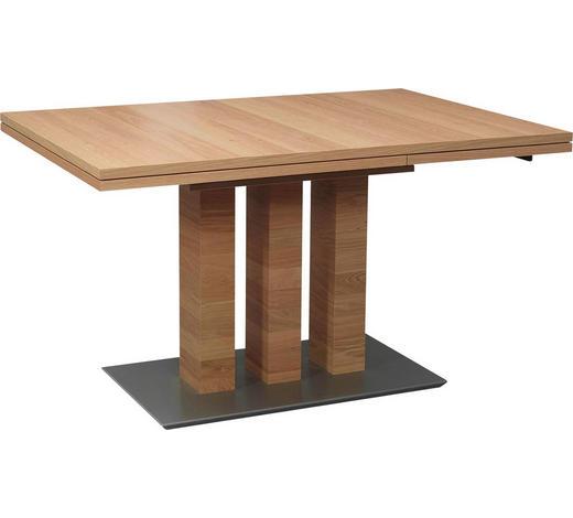 ESSTISCH in Holz, Metall, Holzwerkstoff 130(180)/90/75 cm - Edelstahlfarben/Eichefarben, Design, Holz/Holzwerkstoff (130(180)/90/75cm) - Dieter Knoll