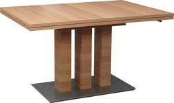 ESSTISCH Wildeiche furniert rechteckig Edelstahlfarben, Eichefarben - Edelstahlfarben/Eichefarben, Design, Holz/Metall (130(180)/90/75cm) - Dieter Knoll
