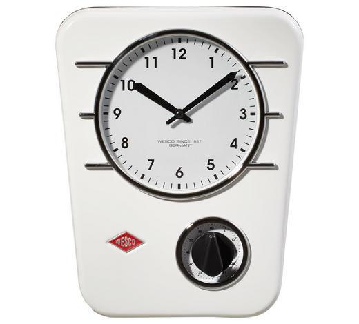 UHR  Weiß  - Weiß, Basics, Kunststoff/Metall (24,5/5/30,5cm) - Wesco