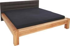 BETT 140 cm   x 200 cm   in Holz, Textil Buchefarben, Dunkelbraun - Dunkelbraun/Buchefarben, KONVENTIONELL, Holz/Textil (146/96/220cm) - Linea Natura