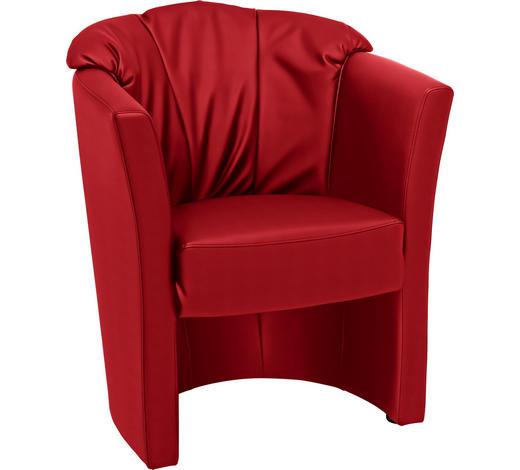 SESSEL in Textil Rot - Rot/Grau, KONVENTIONELL, Kunststoff/Textil (71/82/66cm) - Venda