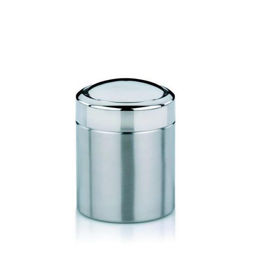 TISCHABFALLEIMER - Edelstahlfarben, Basics, Metall (12/16cm)