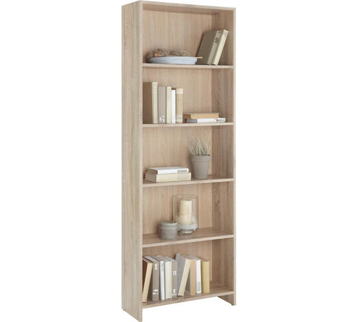 REGÁL, Sonoma dub - Sonoma dub, Design, kompozitní dřevo (60/175/24cm)