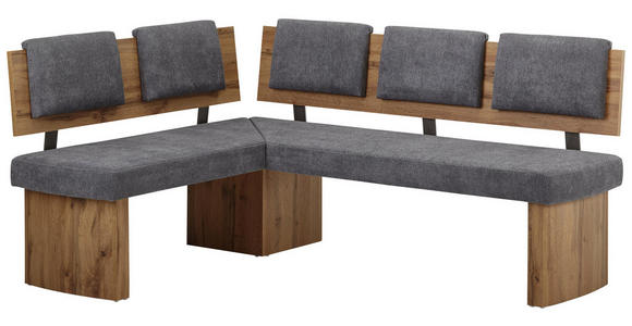 ECKBANK 140/180 cm  in Grau, Eichefarben  - Eichefarben/Grau, KONVENTIONELL, Holzwerkstoff/Textil (140/180cm) - Cantus