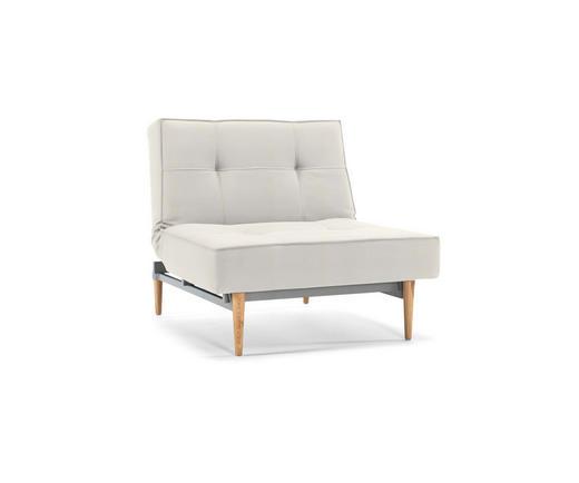 SESSEL Flachgewebe Weiß - Silberfarben/Weiß, Design, Holz/Textil (90/79/115cm) - Innovation