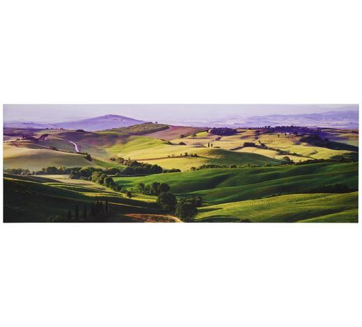OBRAZ S NAPÍNACÍM RÁMEM, hory, 180/60/3 cm - vícebarevná, Konvenční, dřevo/papír (180/60/3cm)