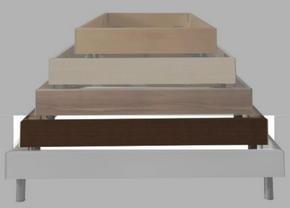 SÄNG - wengefärgad, Design, träbaserade material (160/34/207cm) - Carryhome