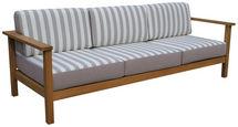 LOUNGE ZOFA les evkaliptusa masivno - Design, tekstil/les (84/62/228cm) - Ambia Garden